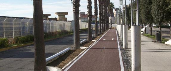 Construcción del carril bici Estación Marítima - Varadero en Santander