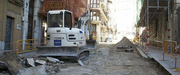 Cuevas, Gestión de Obras, S.L comienza la peatonalización de la calle Rubio en Santander