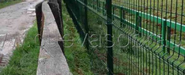 Avance de las obras de cierre perimetral del parque de Cabarceno.