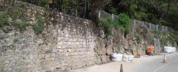 """Finalización de la obra adjudicada """"Construcción de muro de mampostería en la CA-283"""" Obra de emergencia."""