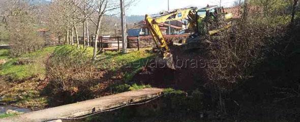 Comienzan las obras del Puente sobre el río Montera en Coo