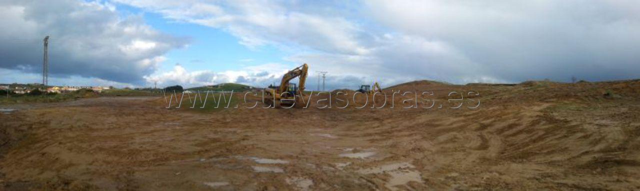 Movimiento de tierras en la creación de encinar en la antigua duna de Cuchia, 3º Fase.