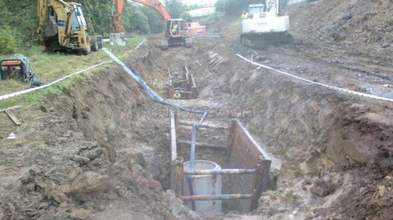 """Trabajos subcontratados por la empresa OXITAL para la ejecución del proyecto """"Saneamiento Campiazo"""" en Beranga"""