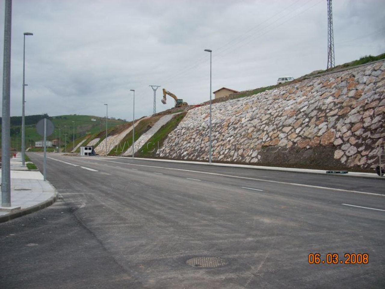 Consolidación del terreno y escolleras en Cantabria