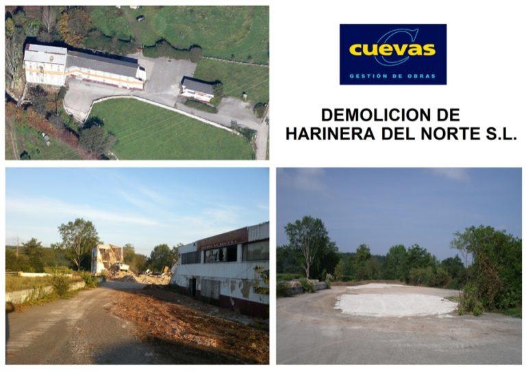 Demolición de Harinera del Norte (Harinor) en Barreda.