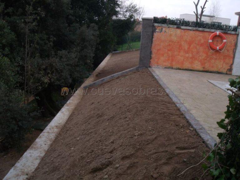 Muro de contención en Siete Villas Cantabria.
