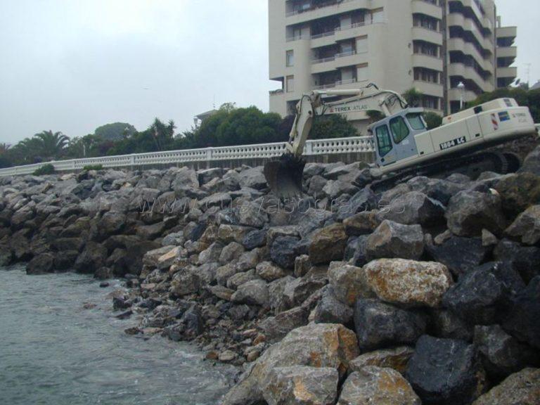 Reparación del muelle Don Luís Castro en Castro Urdiales