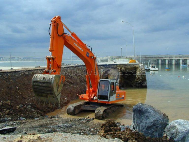 Reparación del muelle sur de la dársena del Puerto de Laredo