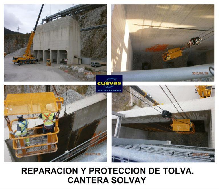 Reparación de tolva en la cantera Tejas Dobra