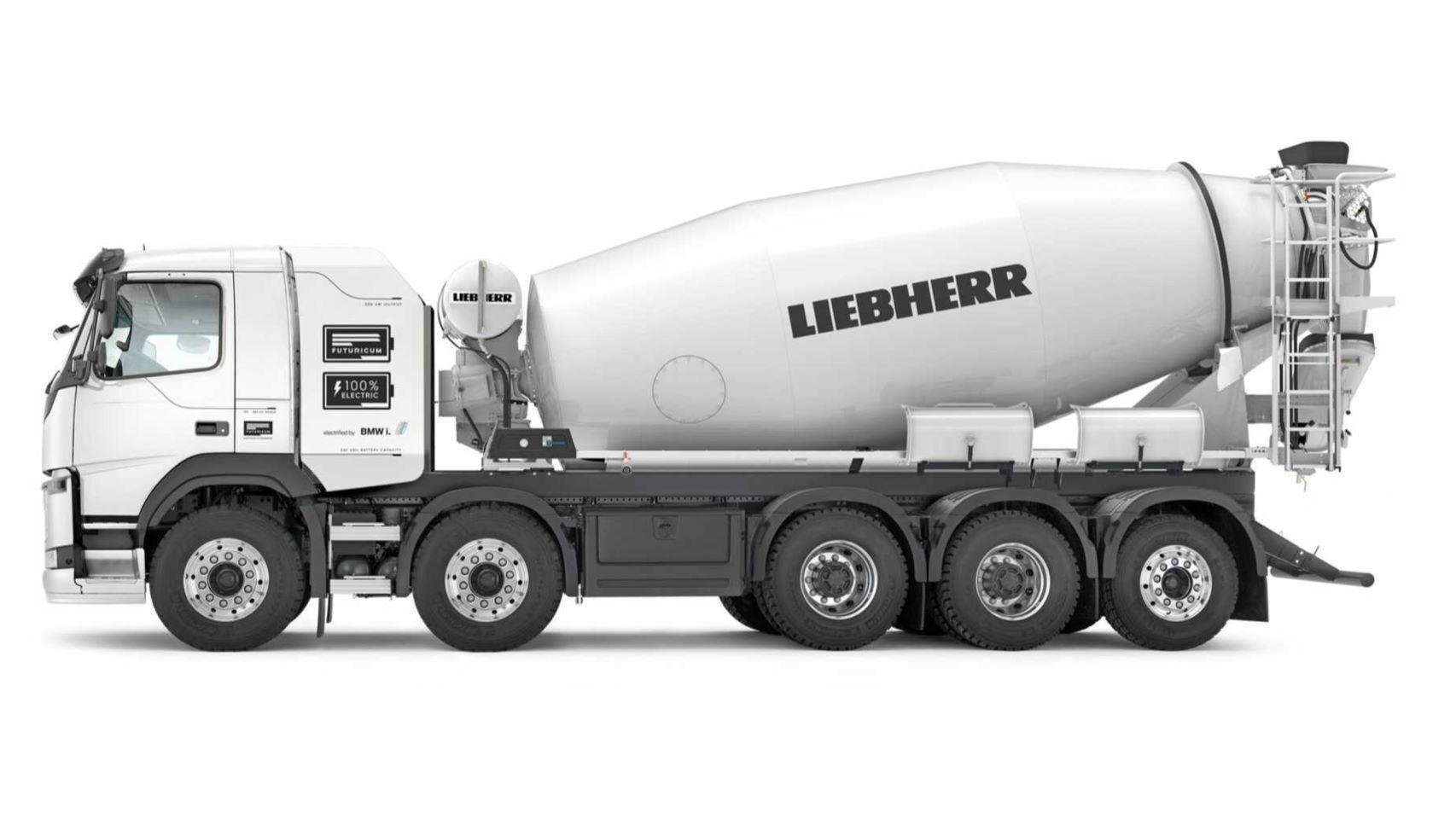 El primer camión hormigonera 100% eléctrico: el futuro de las obras sin humos