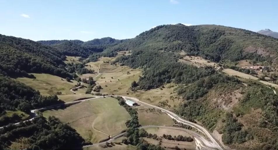 Obra de acondicionamiento vial y mejora de entrada a Salceda en Cantabria